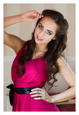 Beauty make-up styl pro fotografování
