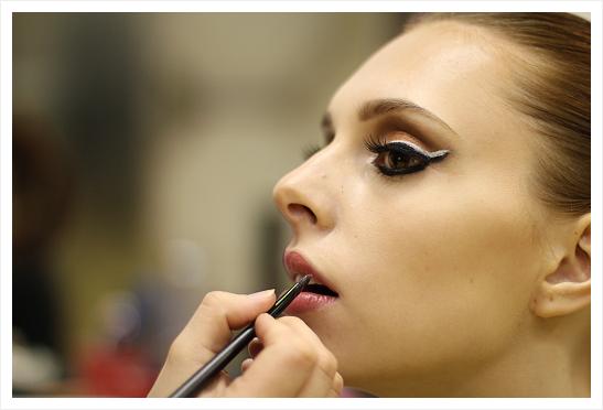 Líčení a make-up modelky - detail